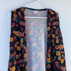 3/$20🌵LulaRoe open sleeveless floral cardigan